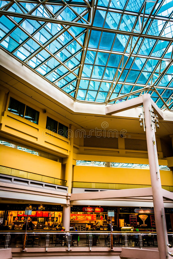 The interior of The Gallery in the Inner Harbor of Baltimore, Ma. Ryland stock photography