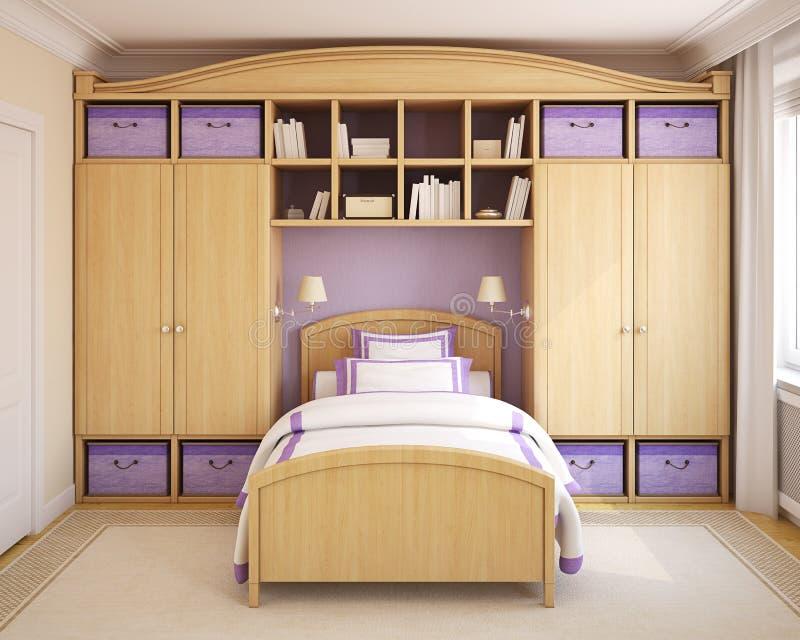 Download Interior Of Girl's Bedroom. Stock Illustration - Image: 22440753