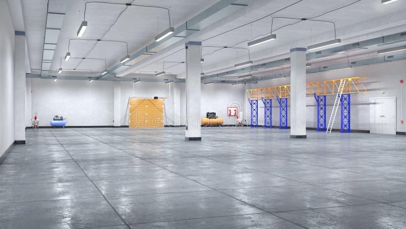 interior grande del hangar imágenes de archivo libres de regalías