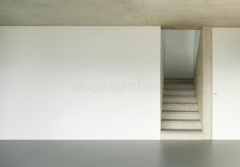 Interior, granite staircase royalty free stock photo