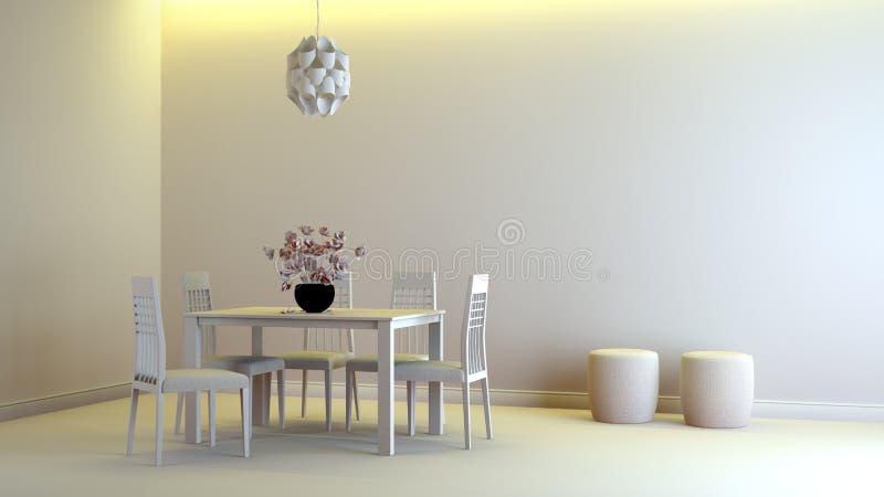 Interior gris ilustración del vector