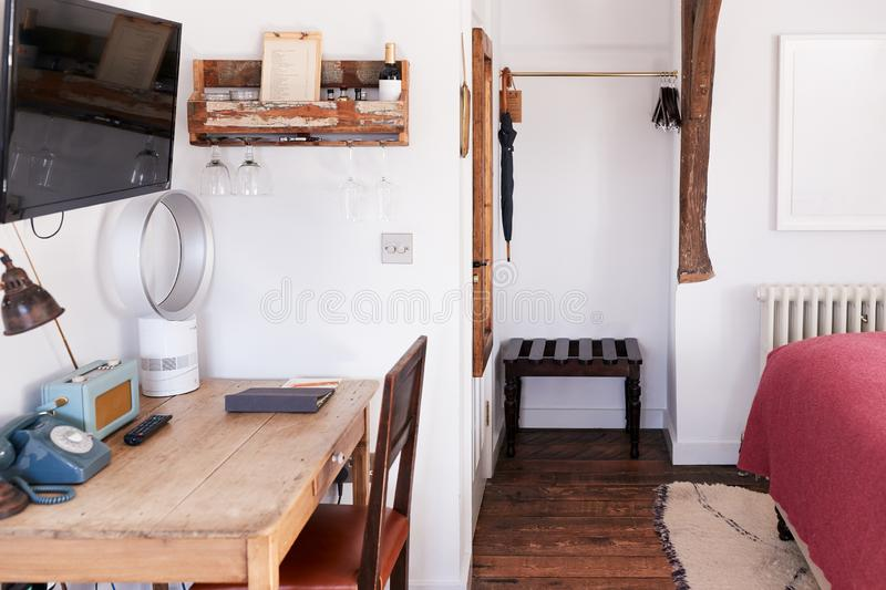 Interior Of Guest Room In Bed And Breakfast Hotel stock image
