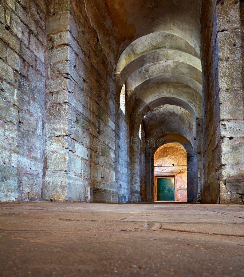 The interior of Hagia Irene (Saint Irene), Istanbul. ISTANBUL, TURKEY - JULY 12, 2014: The interior of Hagia Irene (Saint Irene). Hagia Irene, the former Eastern royalty free stock images