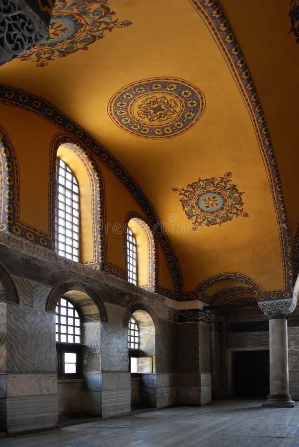 Interior of Hagia Sophia stock image
