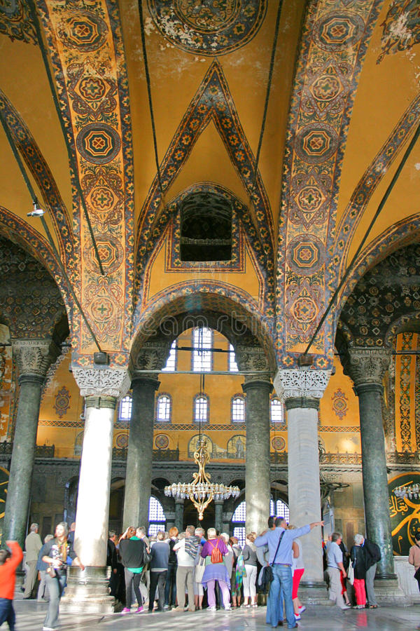 Interior of Hagia Sophia Museum royalty free stock photography