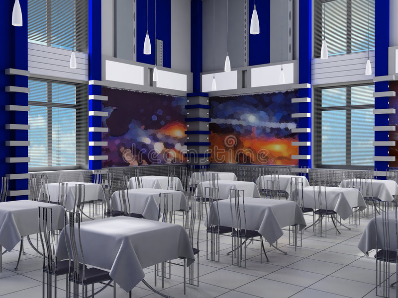 Download Interior of a hall of cafe stock photo. Image of conditions - 2321098