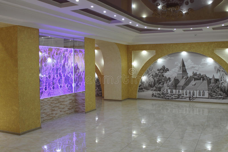 Interior of hall in one of sanatoriums of spa Myrhorod stock images