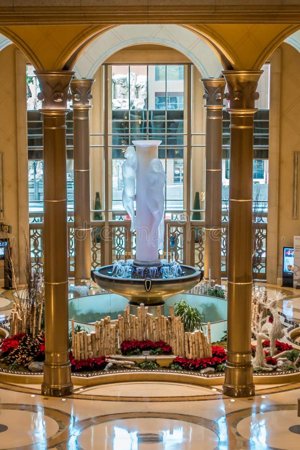 Interior halls and decorations around las vegas nevada hotels royalty free stock photography