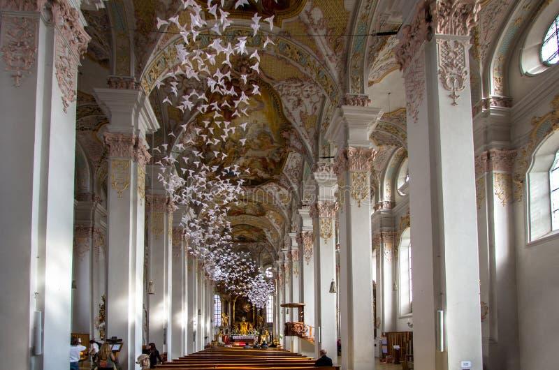 Interior of Heiliggeistkirche church, Munich, Germany royalty free stock photos
