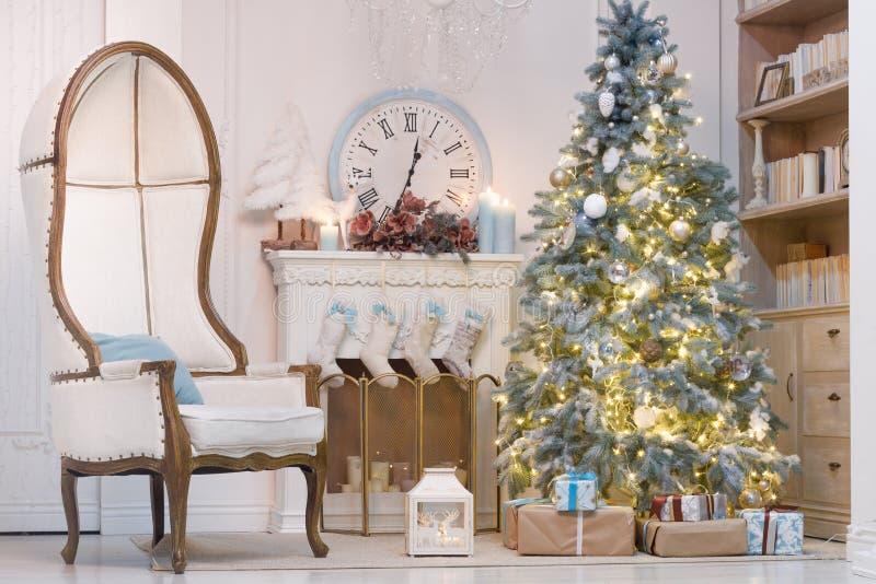 Interior hermoso de la Navidad foto de archivo libre de regalías