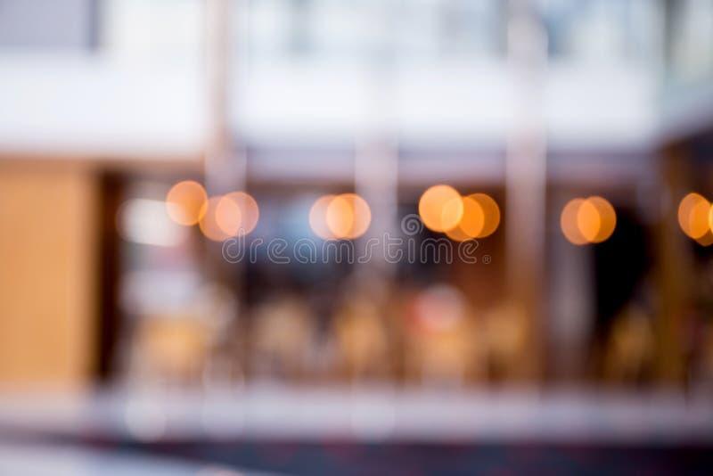 Interior hermoso del restaurante de la falta de definición abstracta foto de archivo libre de regalías