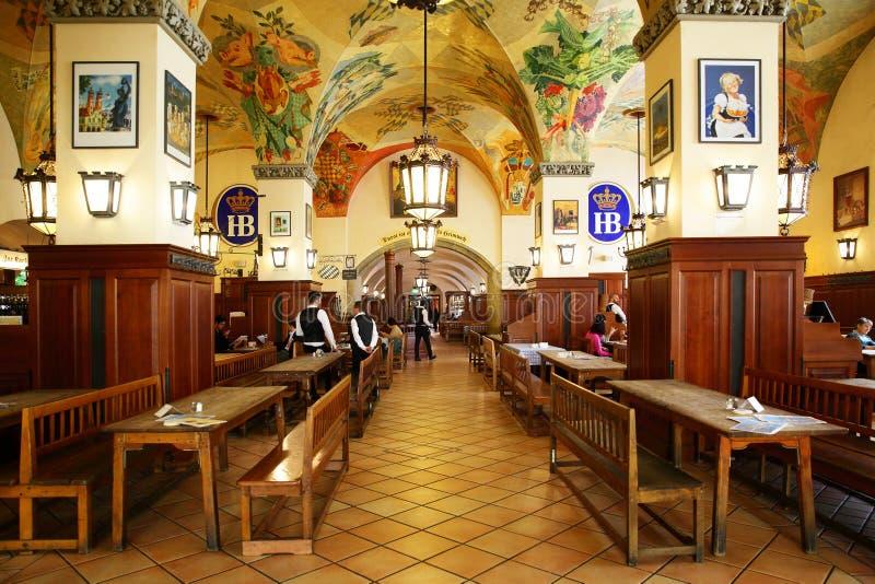 Interior of Hofbraeuhaus beer house royalty free stock image