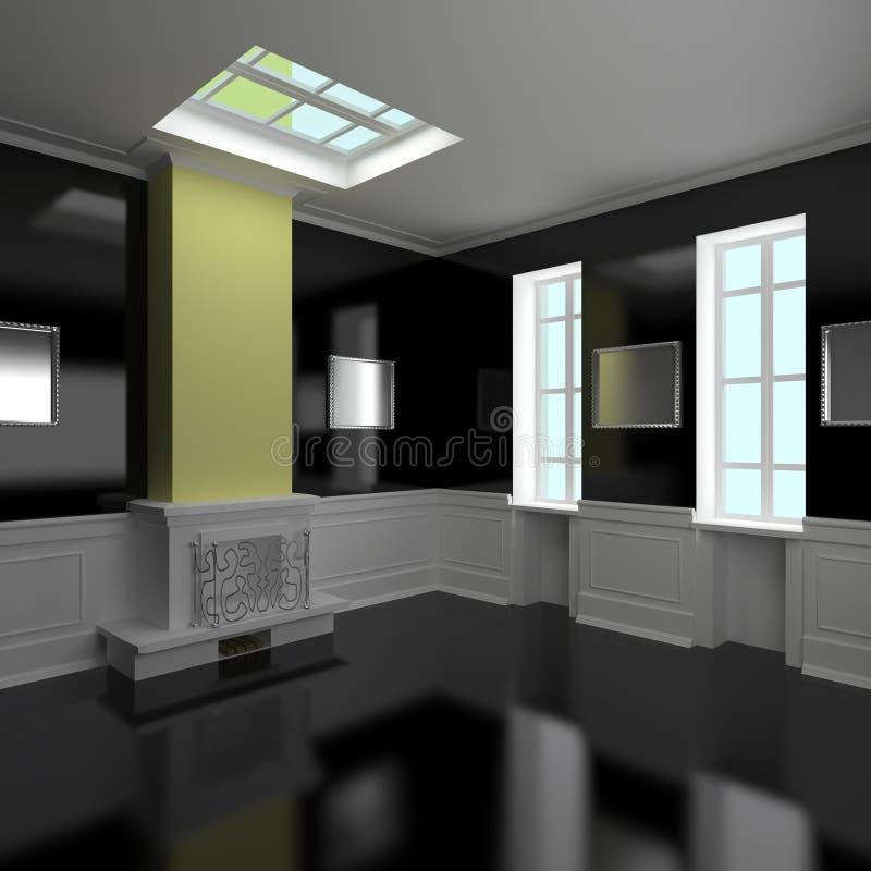Interior Home bonito ilustração royalty free