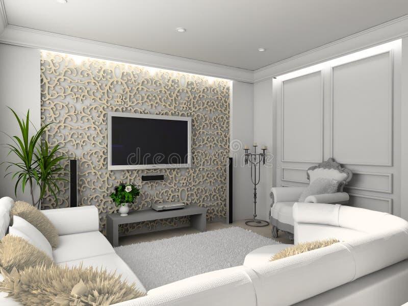 Interior home clássico. fotografia de stock royalty free