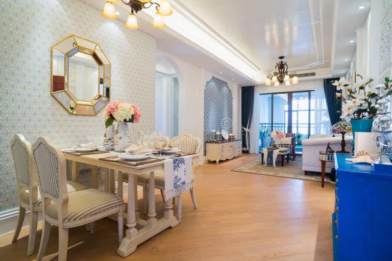 Interior home clássico luxuoso fotografia de stock royalty free