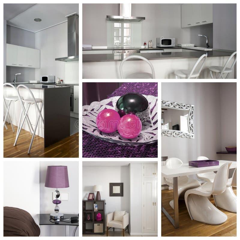 Interior home collage stock photos