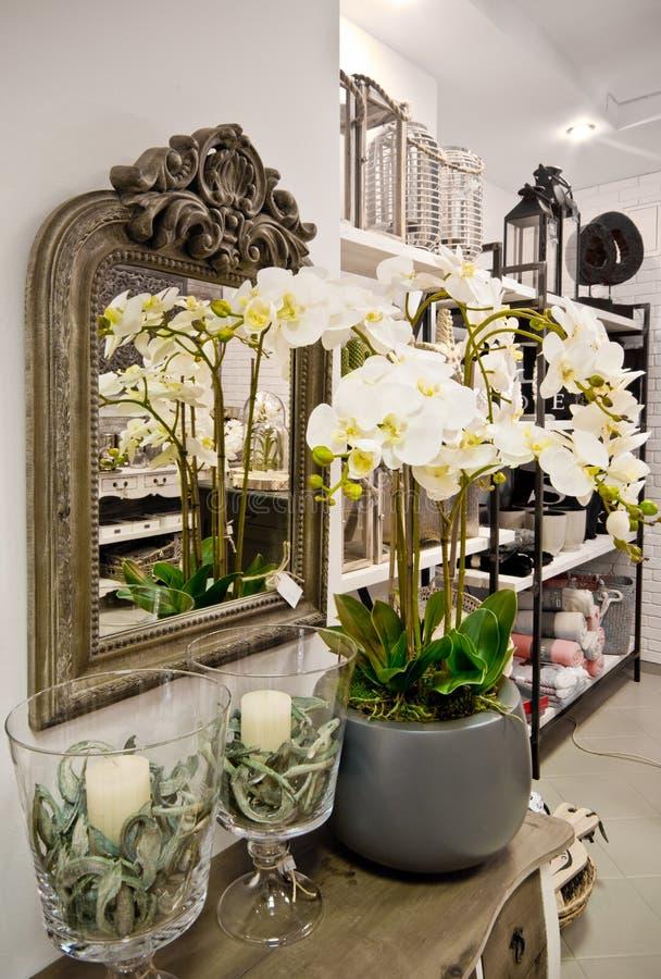 Interior home da loja das decorações foto de stock royalty free