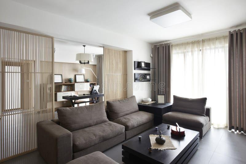 Interior home elegante e confortável fotografia de stock
