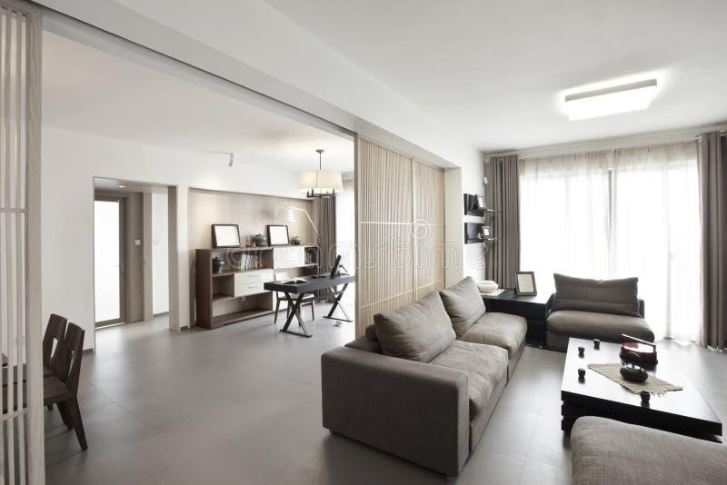 Interior home elegante e confortável foto de stock