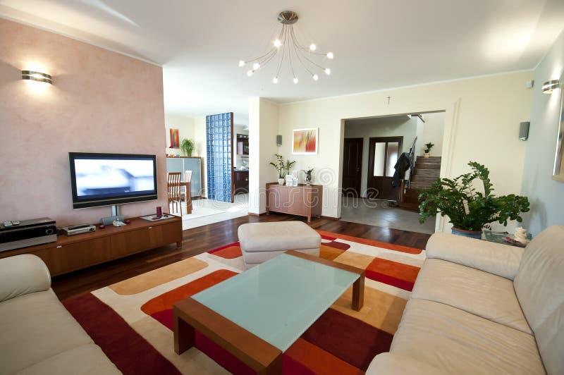 Interior home moderno fotografia de stock royalty free