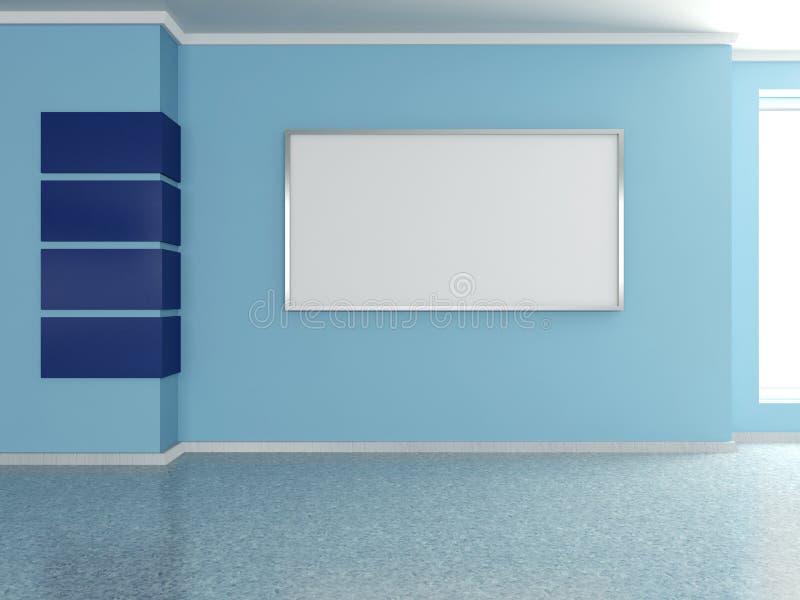 Interior home moderno com pintura. 3D. ilustração do vetor