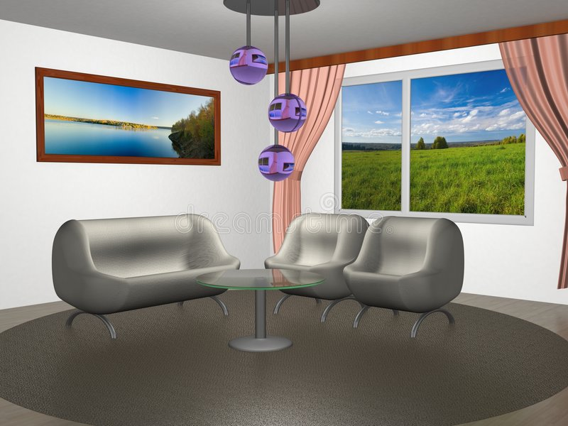 Interior of a home room. royalty free illustration