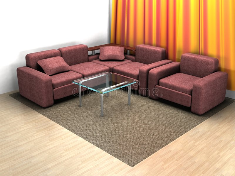 Interior of a home room. vector illustration