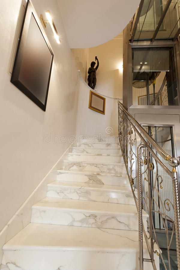 Download Interior Of Hotel With Marble Staircase And Banisters Stock Photo    Image Of Marble,
