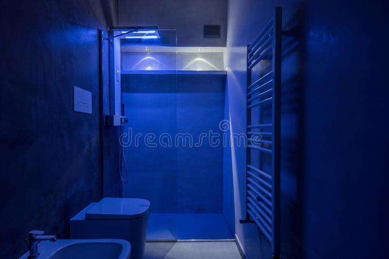 Interior of hotel toilet stock images