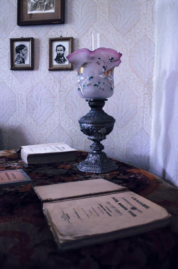 Interior of house-museum of Fyodor Dostoyevsky stock photo