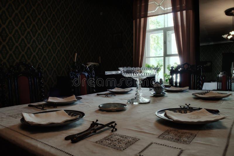 Interior of house-museum of Fyodor Dostoyevsky stock image