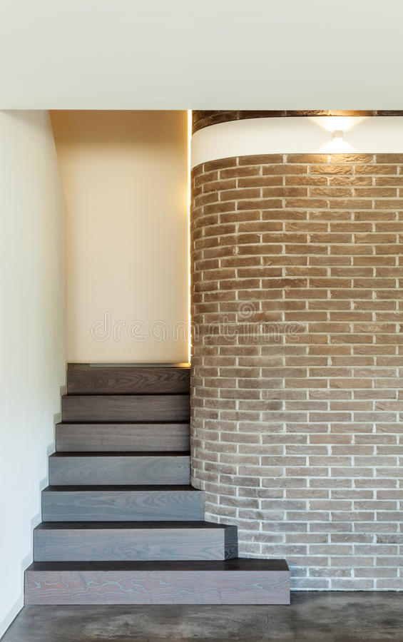 Interior of house, staircase royalty free stock images