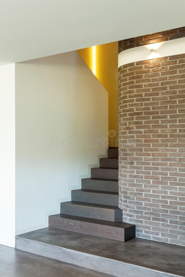 Interior of house, staircase royalty free stock photography