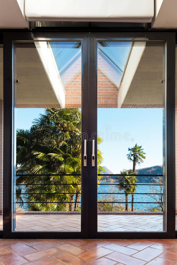 Interior house, window stock photos