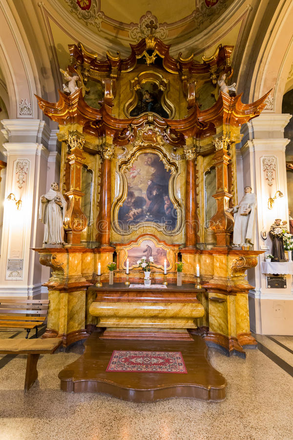 Free Interior In A Church In City Pecs Of Hungary, (Church St. Francis) 16 August 2016 Royalty Free Stock Image - 78371906