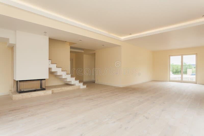 Interior inacabado da sala de visitas imagens de stock royalty free