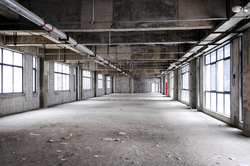 Interior inacabado del edificio fotografía de archivo libre de regalías
