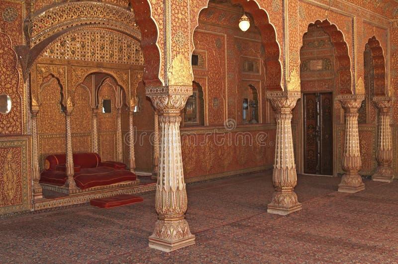 Interior of an Indian Maharaja's Palace stock photos