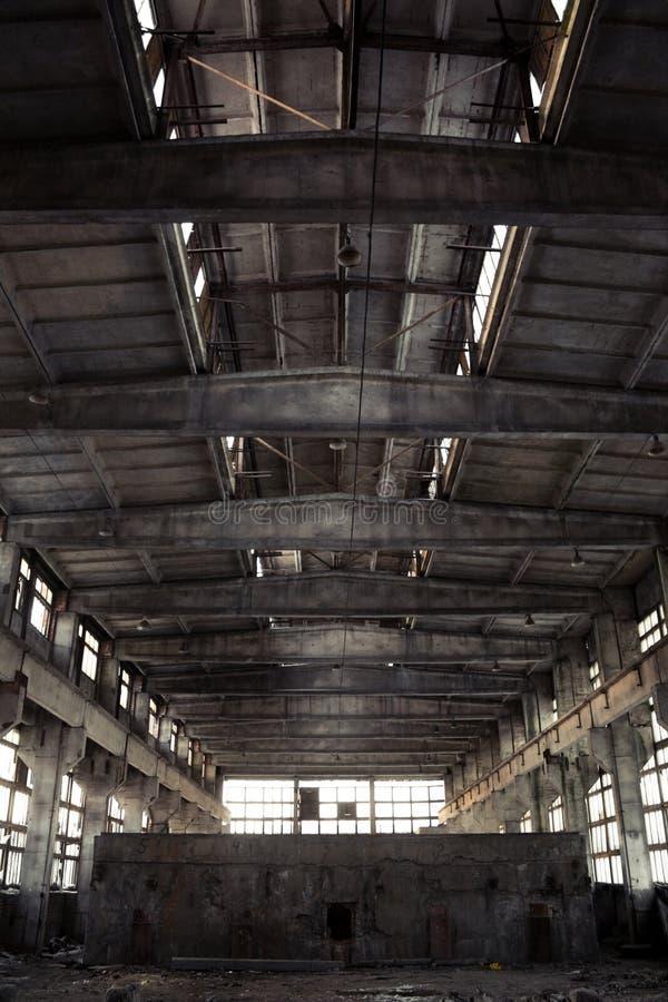 Interior industrial abandonado imágenes de archivo libres de regalías