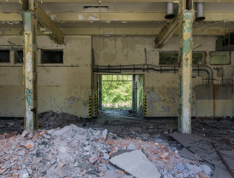 Interior industrial abandonado imagen de archivo libre de regalías