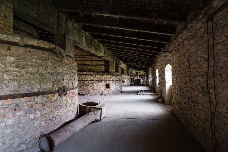 Interior industrial del edificio viejo de la fábrica fotos de archivo libres de regalías