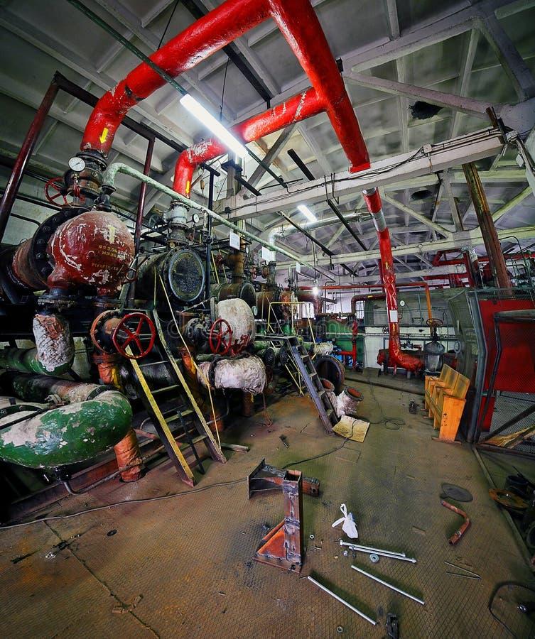 Interior industrial durante o reparo Instrumentos foto de stock royalty free