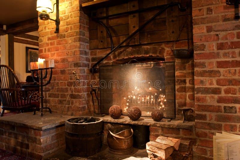 Interior inglés del pub fotografía de archivo libre de regalías