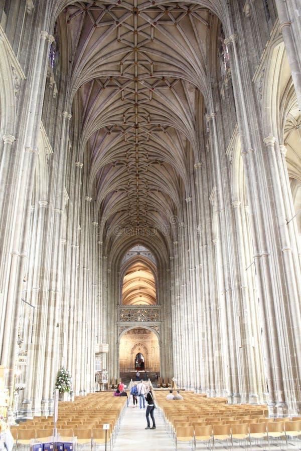 Interior Inglaterra de la catedral de Cantorbery fotografía de archivo