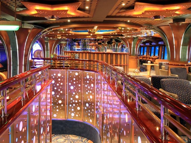 Interior interno no navio de cruzeiros imagem de stock