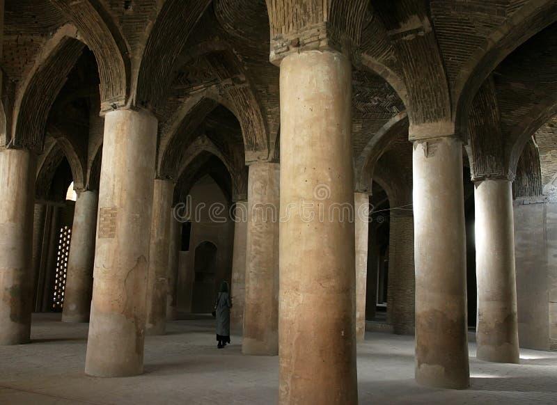 Interior Jameh (Friday) Mosque. Isfahan. Iran stock image