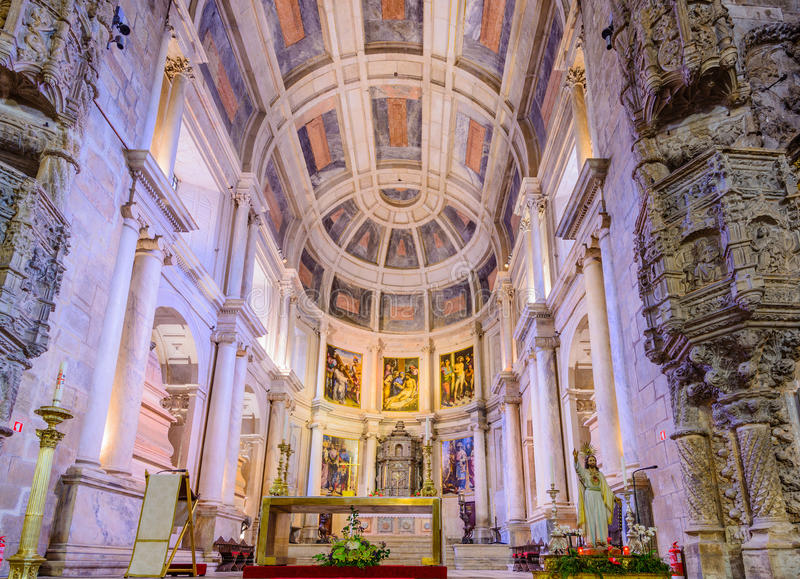 Interior of Jeronimos Monastery royalty free stock photography