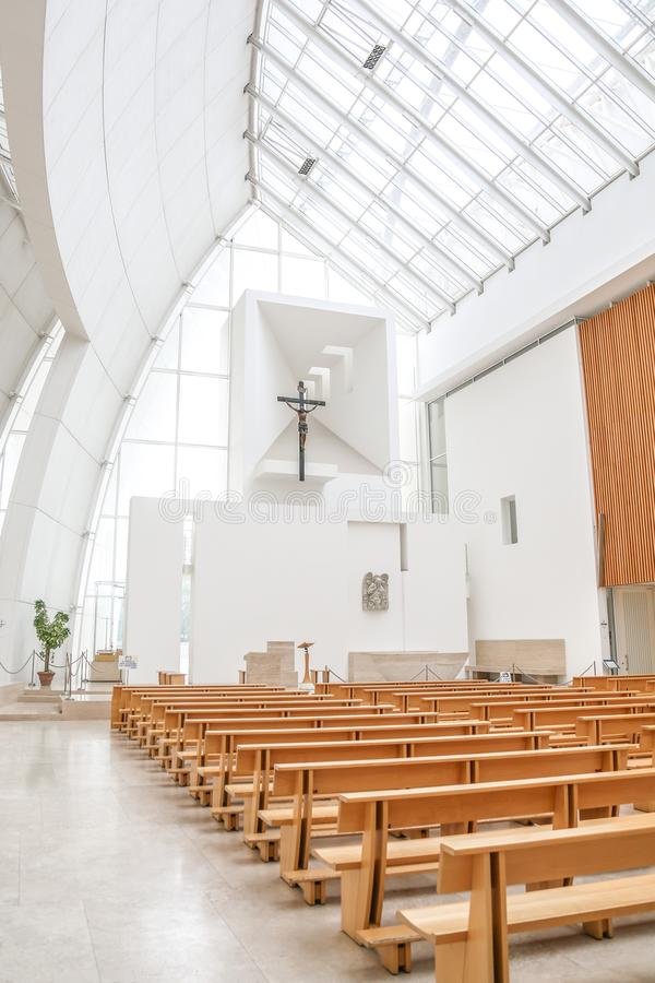 Interior of Jubilee Church stock image