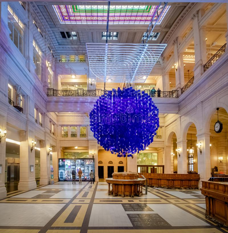 Interior of Kirchner Cultural Centre Centro Cultural Kirchner CCK - Buenos Aires, Argentina. Buenos Aires, Argentina - May 19, 2018: Interior of Kirchner stock photo