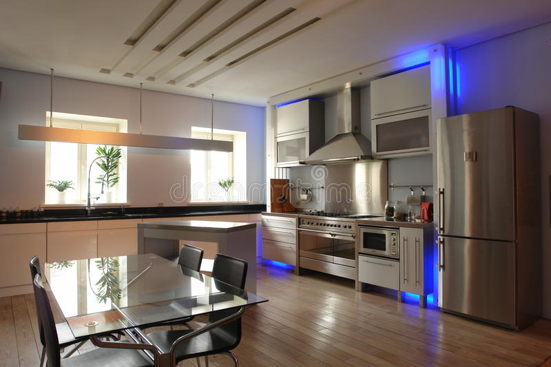 Interior of a kitchen stock image
